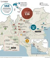 mappa regioni colpite