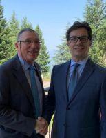 Il Gen. Morabito con il Presidente della Repubblica della Macedonia del Nord, Stevo Pendarovski